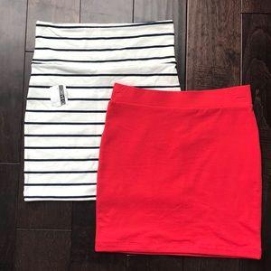 2 brand new pencil skirts